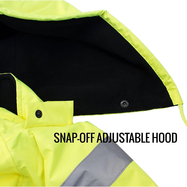 New York Hi-Viz Workwear WJ9012-L Men's ANSI Class 3 High Visibility Bomber Safety Jacket, Waterproof (Large, Lime) by New York Hi-Viz Workwear (Image #8)