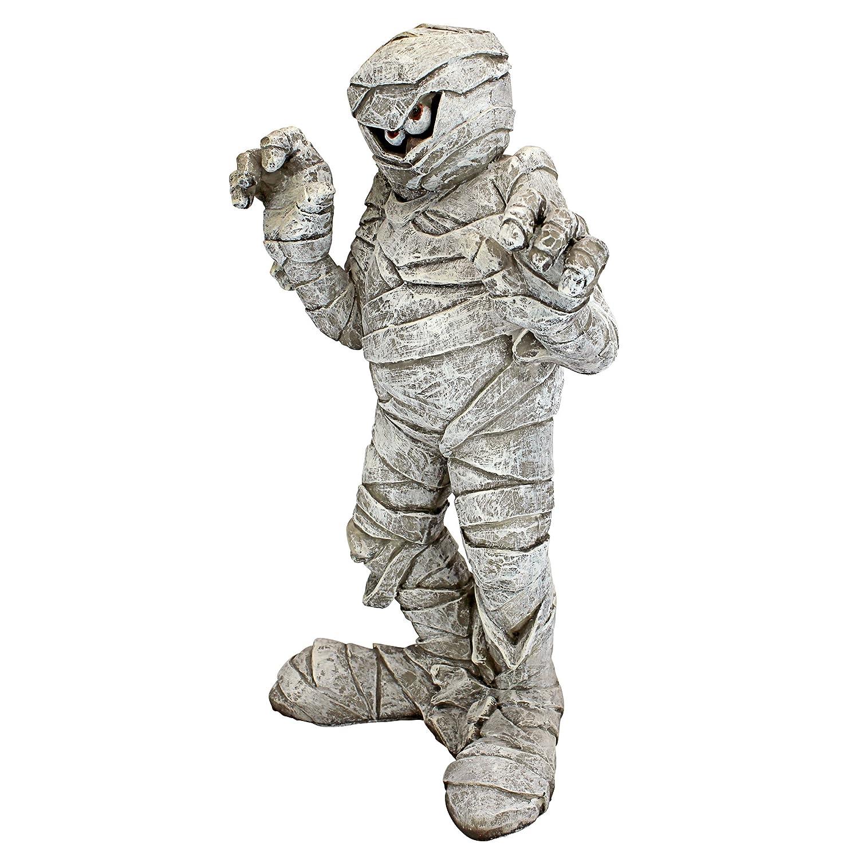 Design Toscano Wrapped Too Tight Mummy Garden Statue - Cute Halloween Decoration