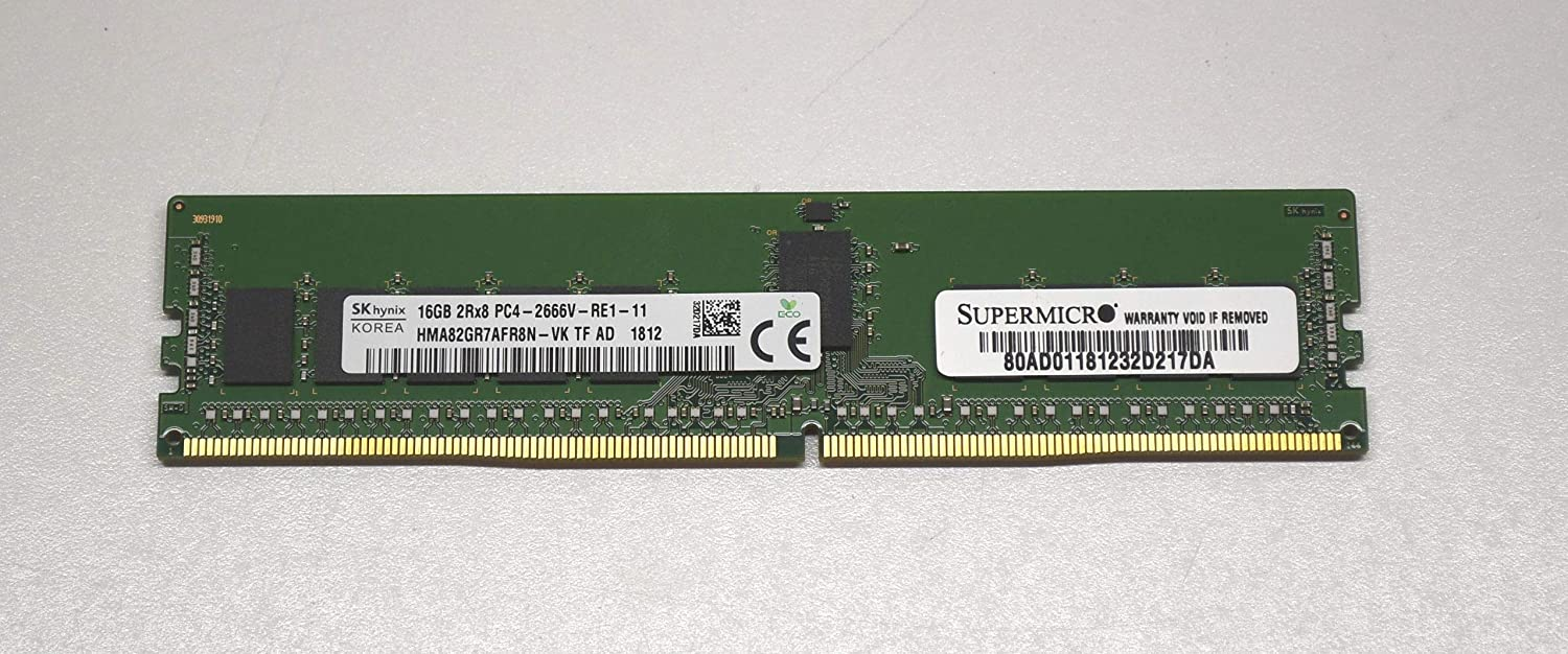HMA82GR7AFR8N-VK TF AC 1808 HYNIX 16GB PC4 2666 2Rx8 ECC REG DDR4 *FAST SHIPPING