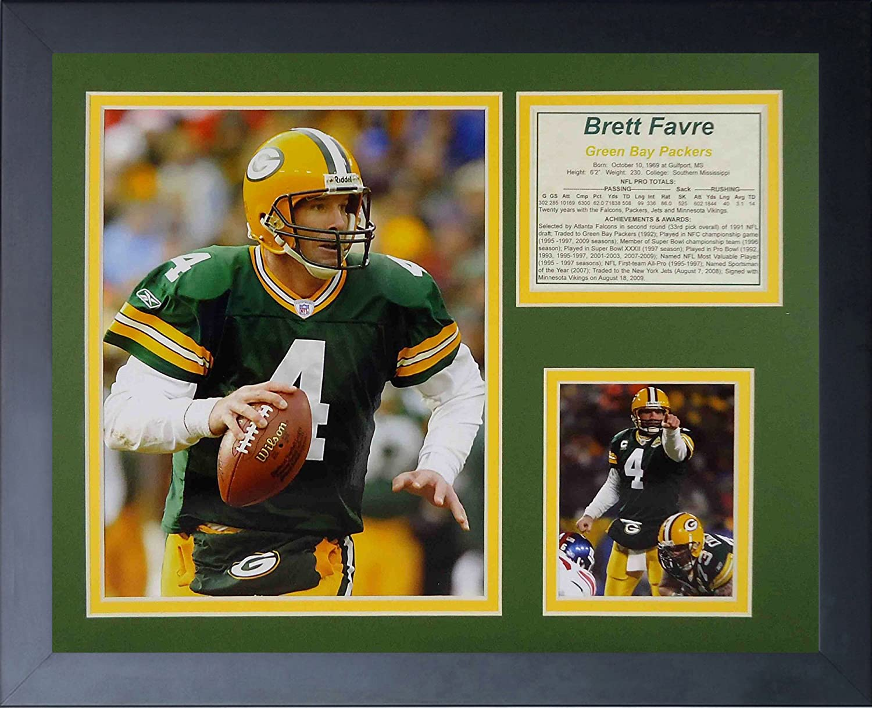 "Brett Favre 11"" x 14"" Framed Photo Collage by Legends Never Die, Inc. - Home"