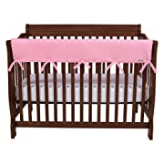 Trend Lab Waterproof CribWrap Rail Cover - for Wide Long Crib Rails Made to Fit Rails up to 18  Around