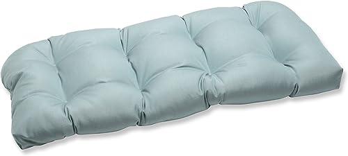 Pillow Perfect Outdoor/Indoor Sunbrella Canvas Spa Tufted Loveseat Cushion