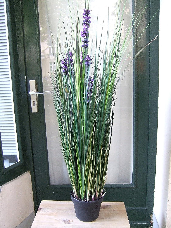 Künstliches Lavendelgras, 1,20m Spitzen-Qualität 880 Gräser, 13Blüten -Sonderpreis