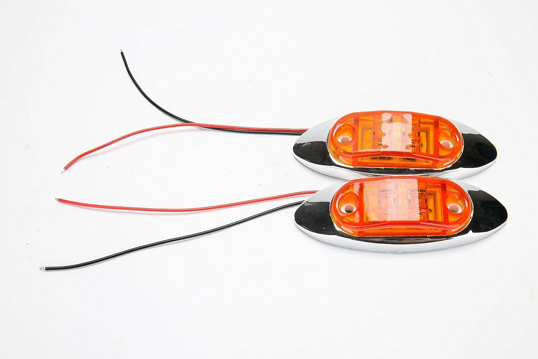 9milelake 4x Amber 12V Trailer Truck Caravan LED Side Marker Light Lamp Clearance Amber