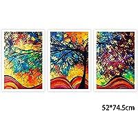 rokirs 3 Pezzi/Set Set di pitture a Olio Imitazione di Quadri Senza Cornice Stampe e Quadri su Tela