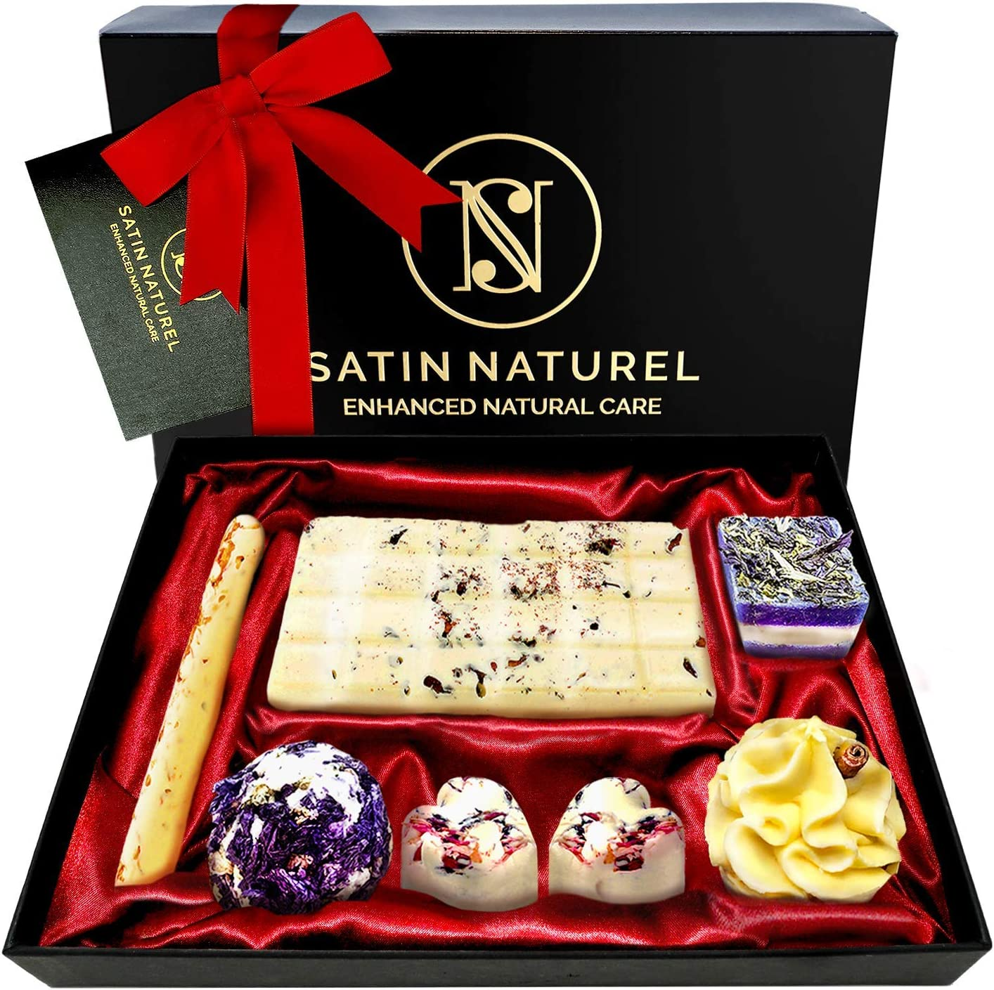 Satin Naturel Organic Bath Bombs Set 7 Pieces