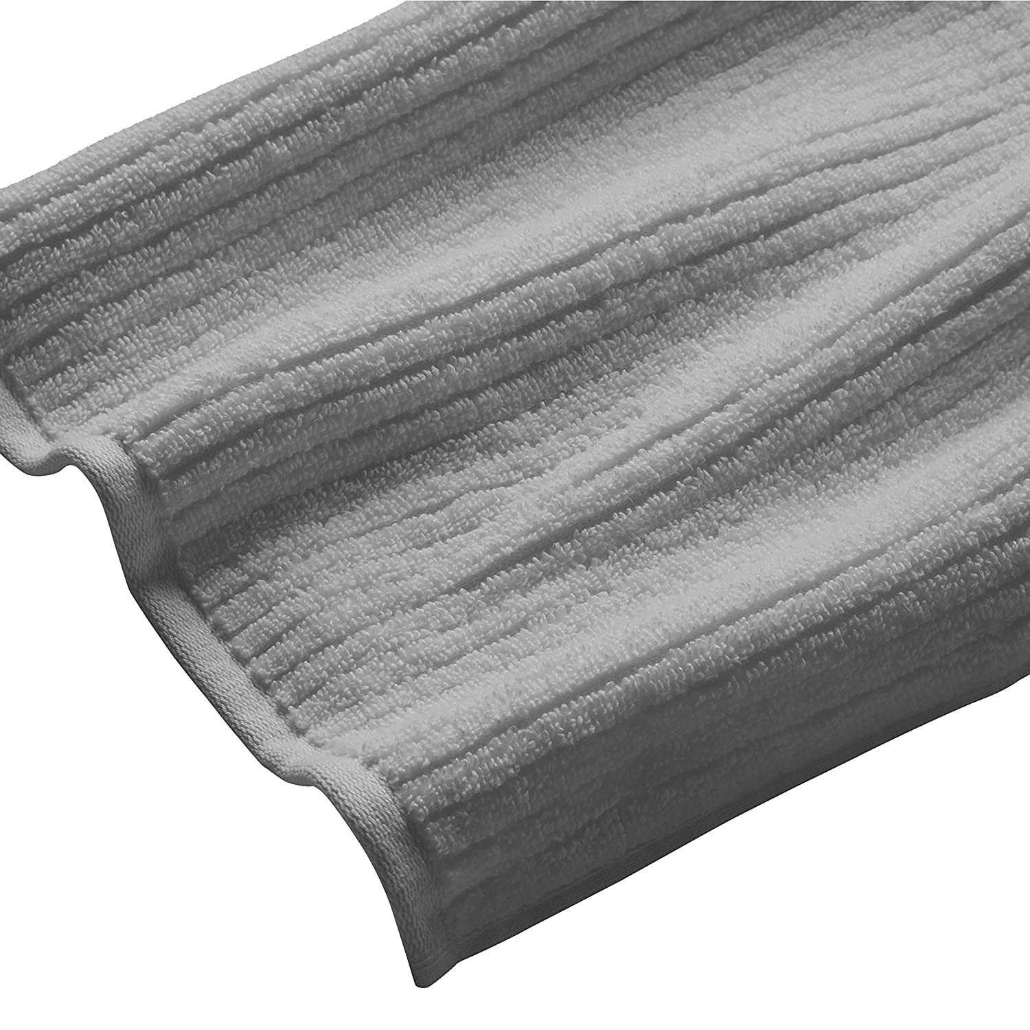 Alurri Hotel and Spa Like Set of 4 Large Hand Towels 16 x 28 Inches Cotton Grey