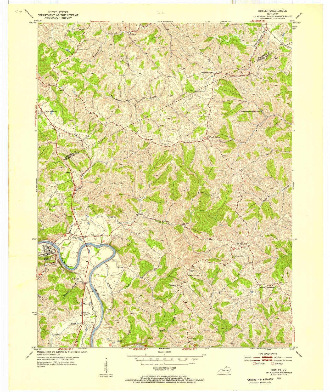 Amazon.com : YellowMaps Butler KY topo map, 1:24000 Scale ...