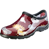 Sloggers Women's Waterproof Rain and Garden Shoe with Comfort Insole, Chickens Barn Red, Size 6, Style 5116CBR06