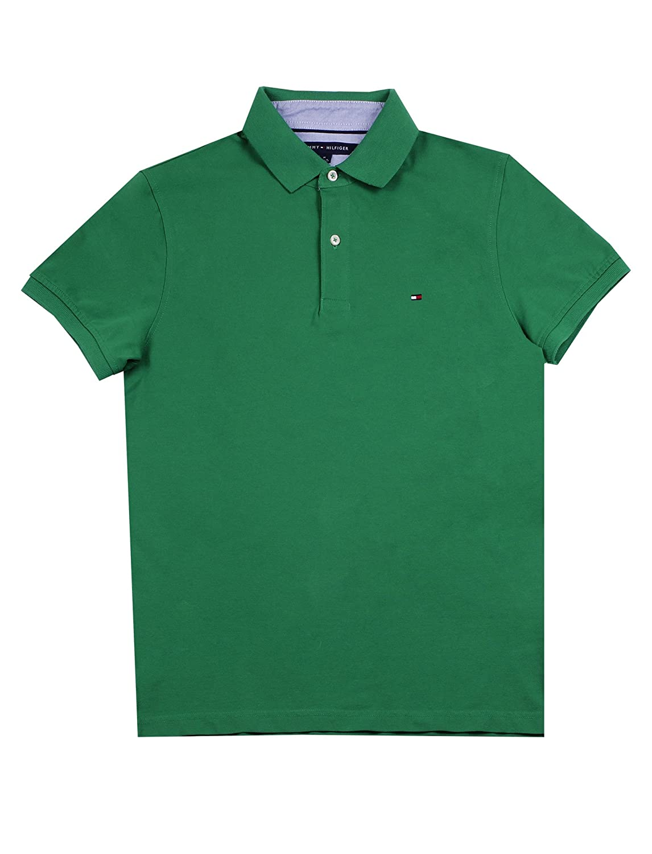 Tommy Hilfiger Mens Stretch Slim Fit Pique Polo Shirt