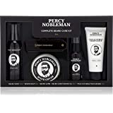 Percy Nobleman Complete Beard Care Grooming Kit. Scented Beard Oil (50ml), Beard Wash (100ml), Beard Balm (65ml), Face & Stubble Moisturiser (75ml), Folding Comb.