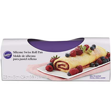 "Wilton Silicone Swiss Roll Yule Log Fudge Candy Baking Mat Pan 9 "" ..."
