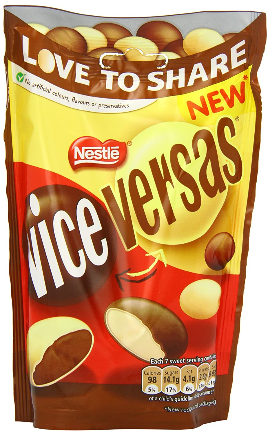 Nestlé Smarties Vice Versas Milk Chocolate 126 G Pack Of 12