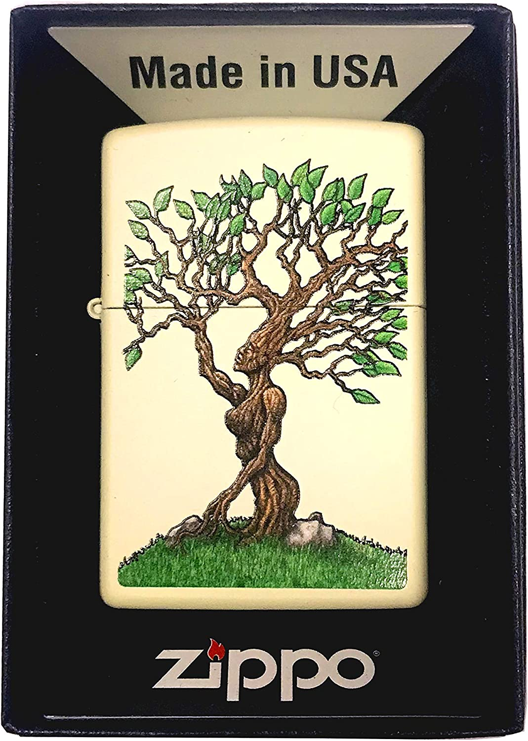Zippo Custom Lighter - Forest Nymph Tree Woman