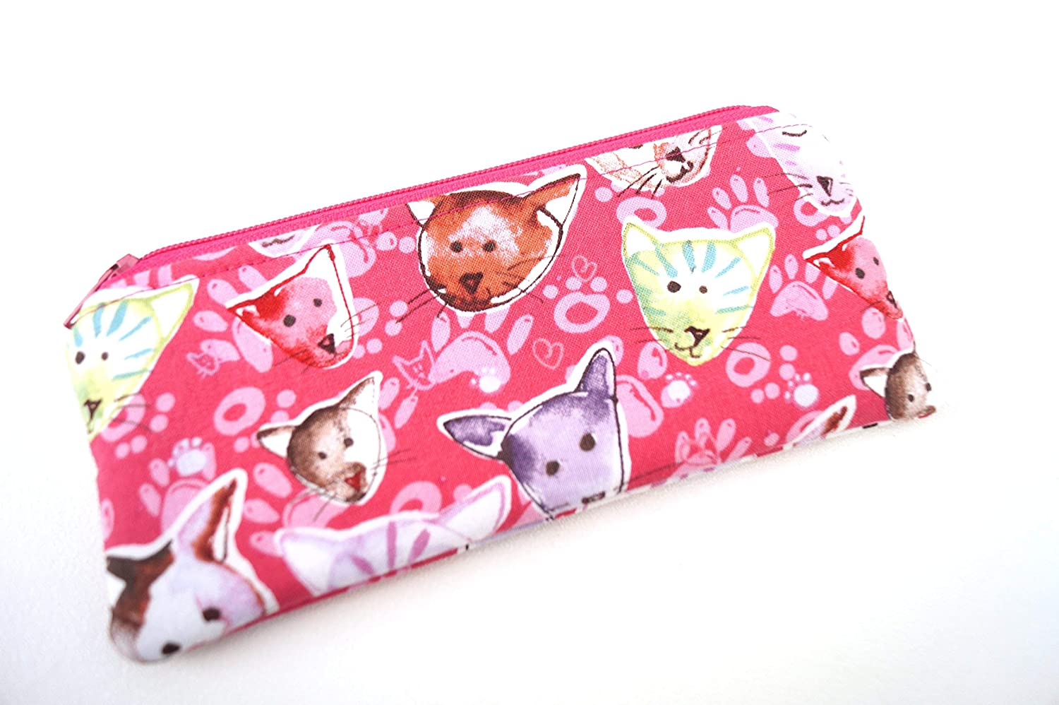 Cat Fabric Pouch or Glasses Case
