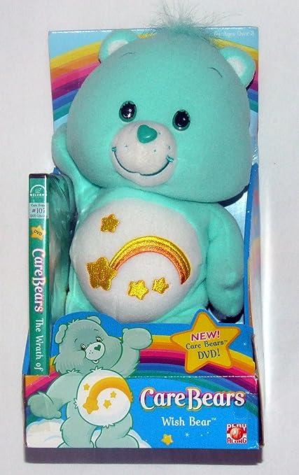Message Recorder Stuffed Animals, Amazon Com Care Bears Stuffed Plush 12 Wish Bear By Play Along Toys Games