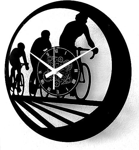 Instant Karma Clocks Reloj de Vinilo de Pared Tienda, Bicicleta Bike, Ciclista: Amazon.es: Hogar