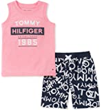 Tommy Hilfiger Baby-Boys 2 Pieces Muscle Top Shorts Set Shorts Set - Multi