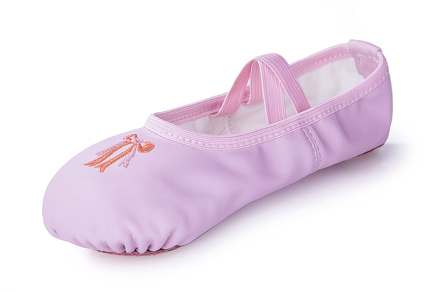 Girls Leather Ballet Dance Slipper Split-Sole Shoes (Toddler/Little Kid)