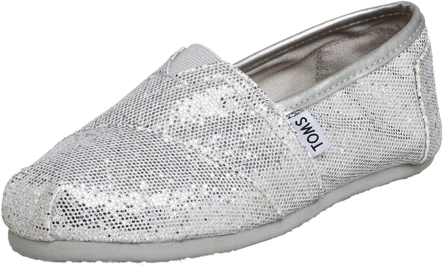 Toms Classic Silver Glitter Womens