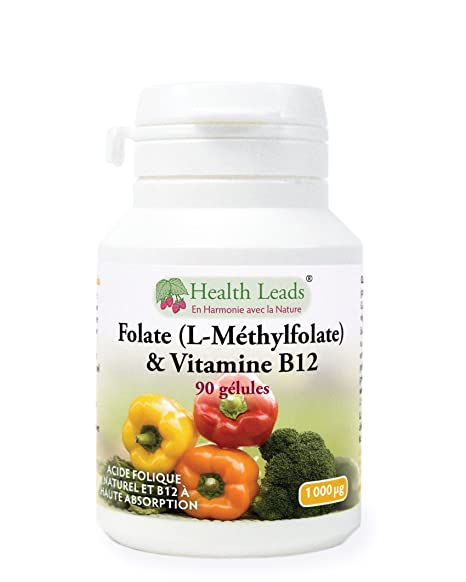Folate   Vitamine B12 1000 mcg x 90 gélules (pas de stéarate de magnésium) 0d5f82f72e3