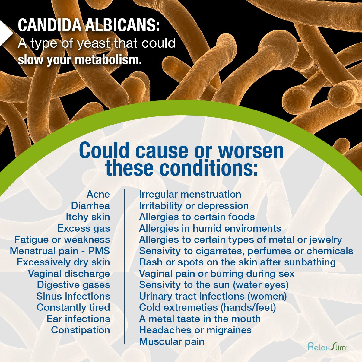 RelaxSlim Candida Albicans Treatment, Formulated by Award Winning Metabolism and Weight Loss Specialist- Full Detox and Cleanse of Fungus for Health and Weight Loss Aid by RelaxSlim  (Image #6)