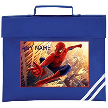 Personalised SPIDERMAN Style School Book Bag  Choice of colours  By Mayzie  Designs® 80b739d887093