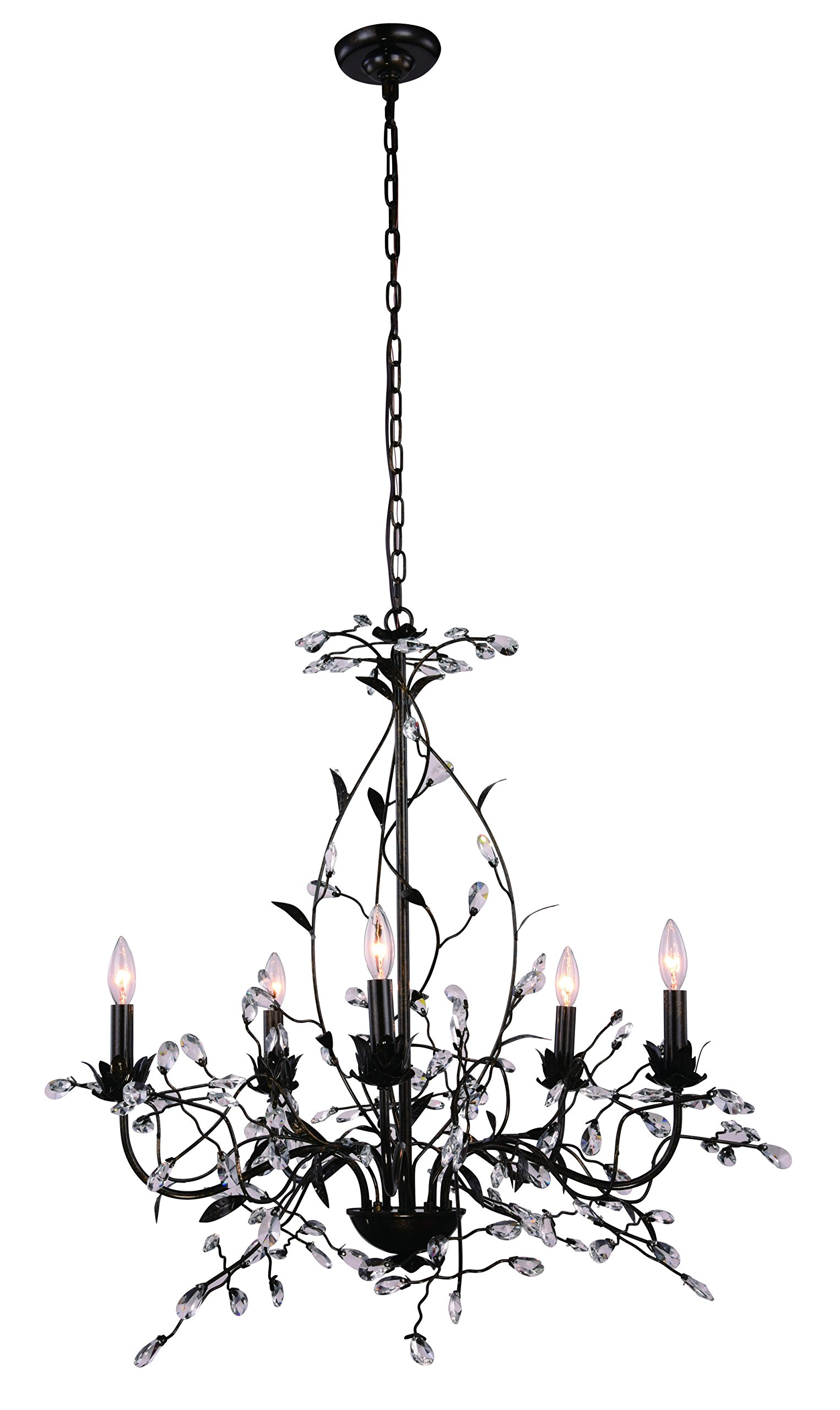 Arbor Collection Pendant Lamp D:35In. H:30In. Lt:5 Golden Dark Bronze Finish by Urban Classic (Image #1)