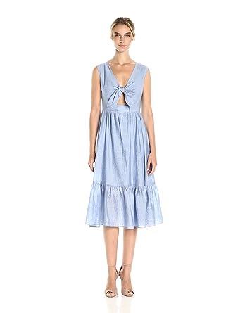Shoshanna Women's Gilroy Dress, Sky/Optic Combo, 0