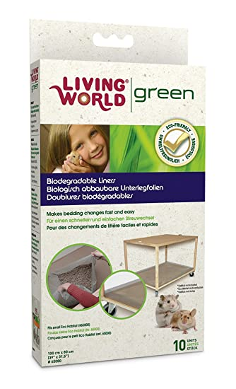 Living World Green Biodegradable Liner For Small Eco Habitat Pack