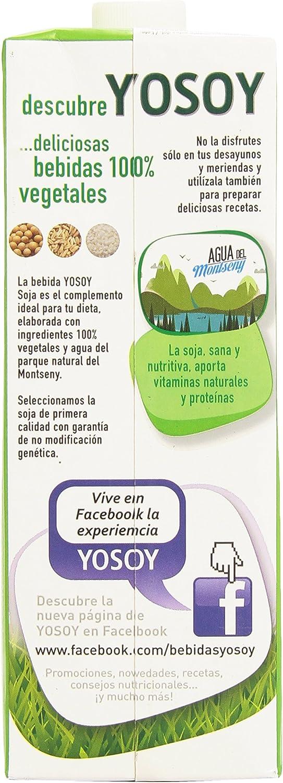 Yosoy - Bebida de soja - Sin azúcar añadido - 1 l: Amazon.es ...