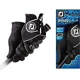 FootJoy Men's RainGrip Golf Gloves, Pair (Black)