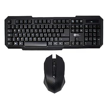 I-CHOOSE LIMITED Conjunto de Teclado y Ratón para USB Computadora de Escritorio PC/
