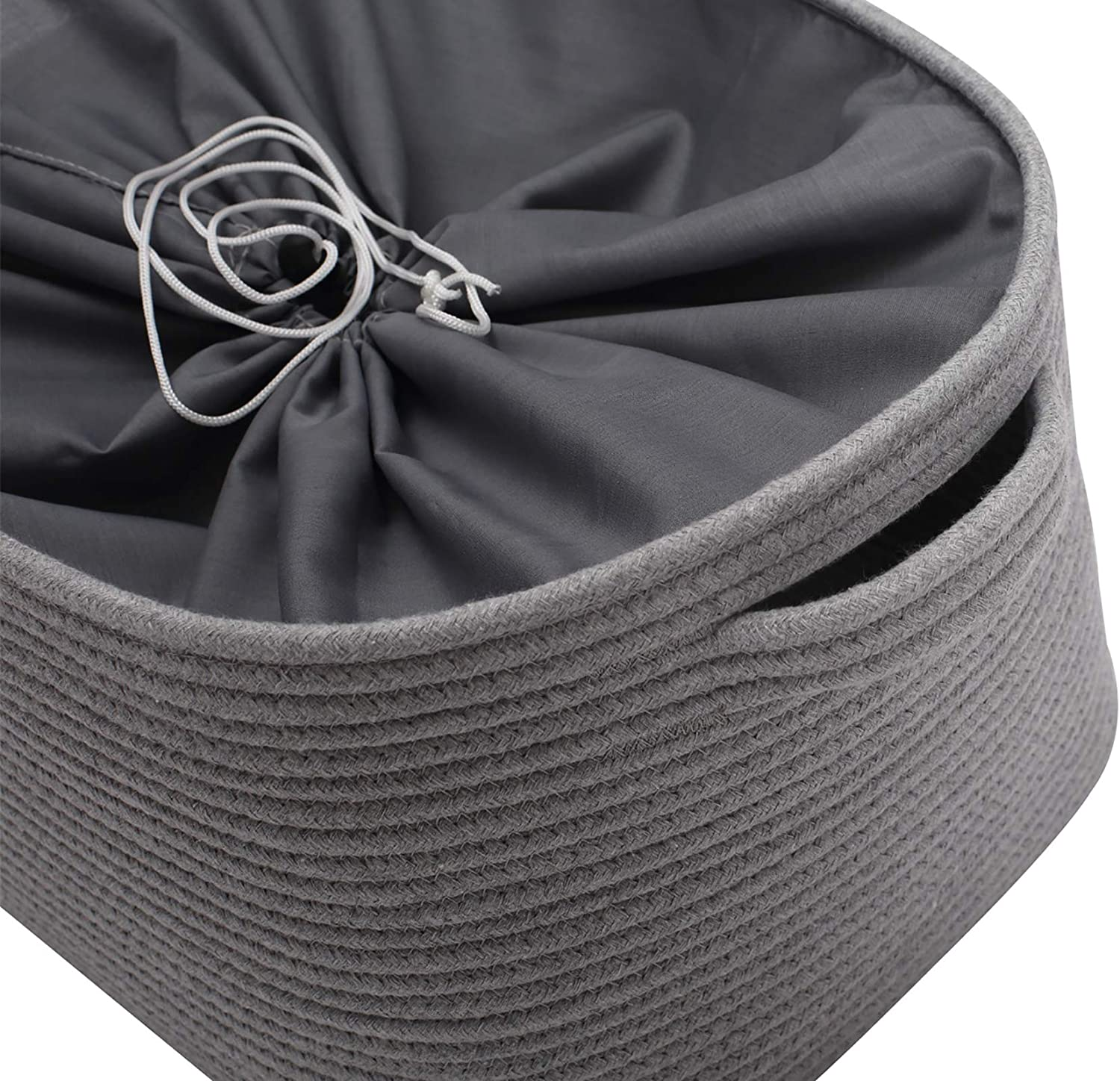 Coats Towel Perfect for Organizing Dog Toys Blankets Leashes Pet Pee Mat Morezi Cotton Rope Dog Toy Box Puppy Toy Basket Bin with Drawstring Closure Diaper