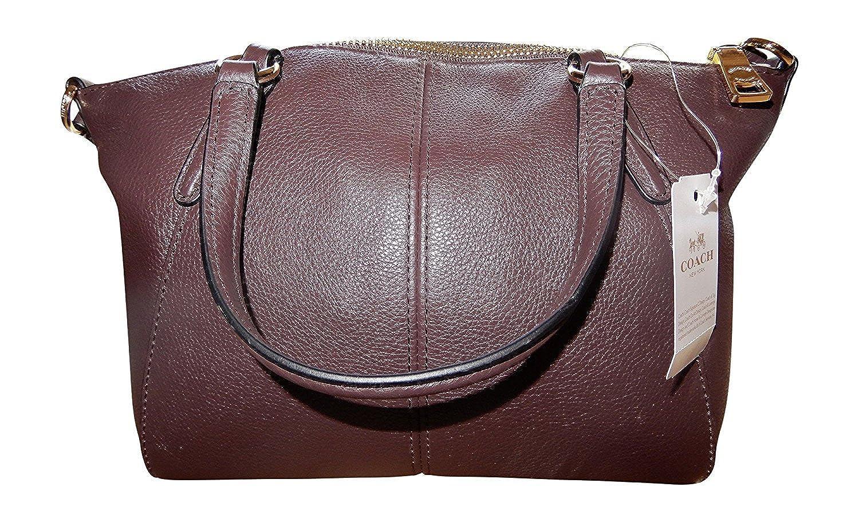 Coach Pebble Leather Mini Kelsey Satchel Crossbody Handbag (IM Oxblood)   Amazon.co.uk  Shoes   Bags a0b79facb0