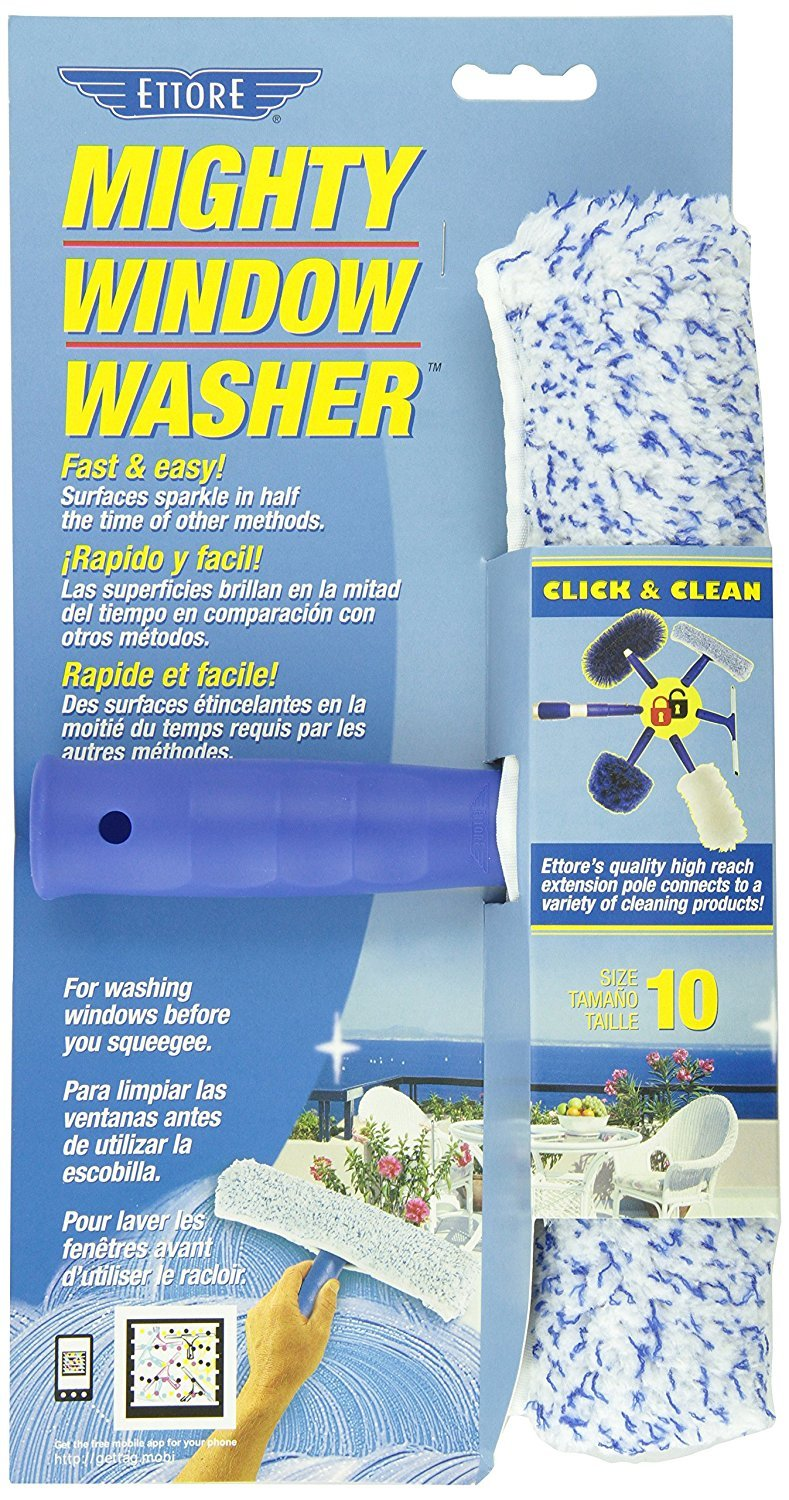 Amazon.com: Ettore 50010 Mighty Window Washer, 10-Inch, 4-Pack with Cleaning Cloth: Home & Kitchen