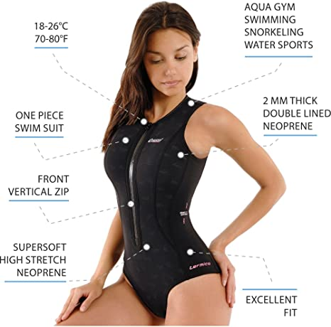 81LiG1KrACL._SX466_ amazon com cressi termico lady, 2mm premium neoprene thermal,80 F Swimwear