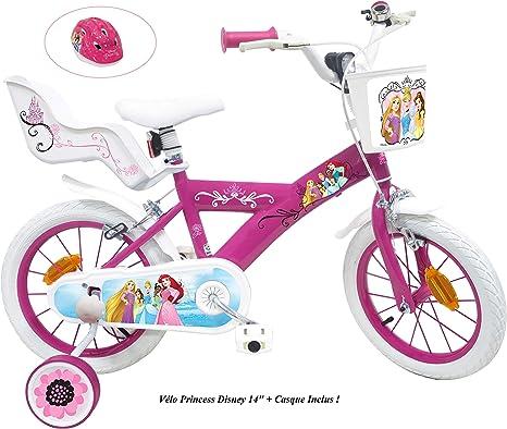 Bicicleta de Princesa Disney para niña, Multicolor, 14 Pulgadas ...