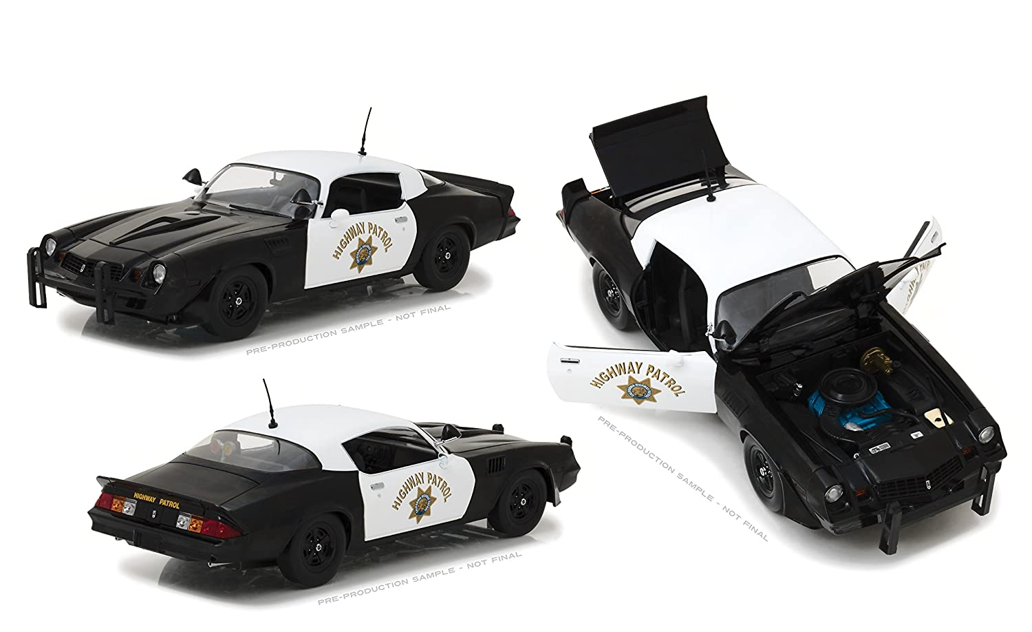 Amazon.com: Greenlight 1:18 1979 Chevy Camaro Z/28 with California Highway Patrol Officer Figure Die-Cast Vehicle: Toys & Games
