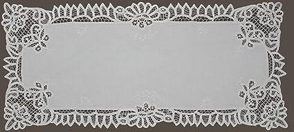 amazon com white battenburg lace table runner 16x53 hand