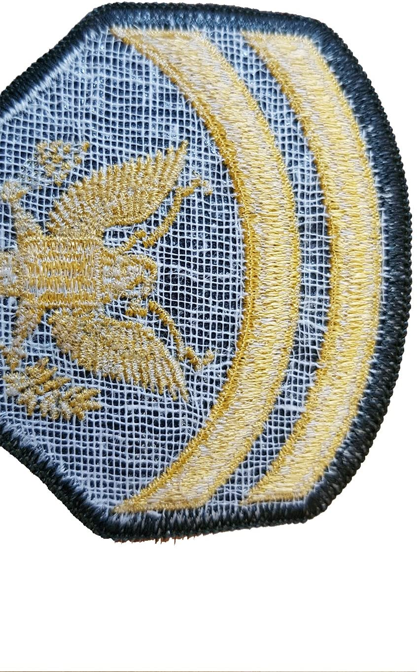 Nos Ej/ército//Insignia//grado militar//sargento//especial cuerpo//gamuza parche bordado //r/éplica//funda//ideal para Militar REenactment Fancy Dress//Worn By Elvis//Top Gun//10 x 8 cent/ímetros Single Sided //