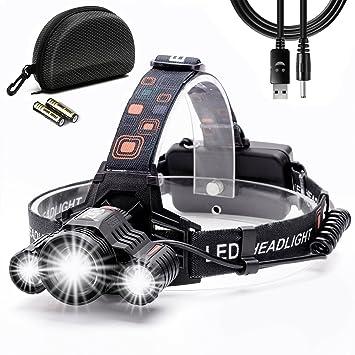 Cobiz Stirnlampe, Wiederaufladbare LED Stirnlampe, Wasserdichte LED ...