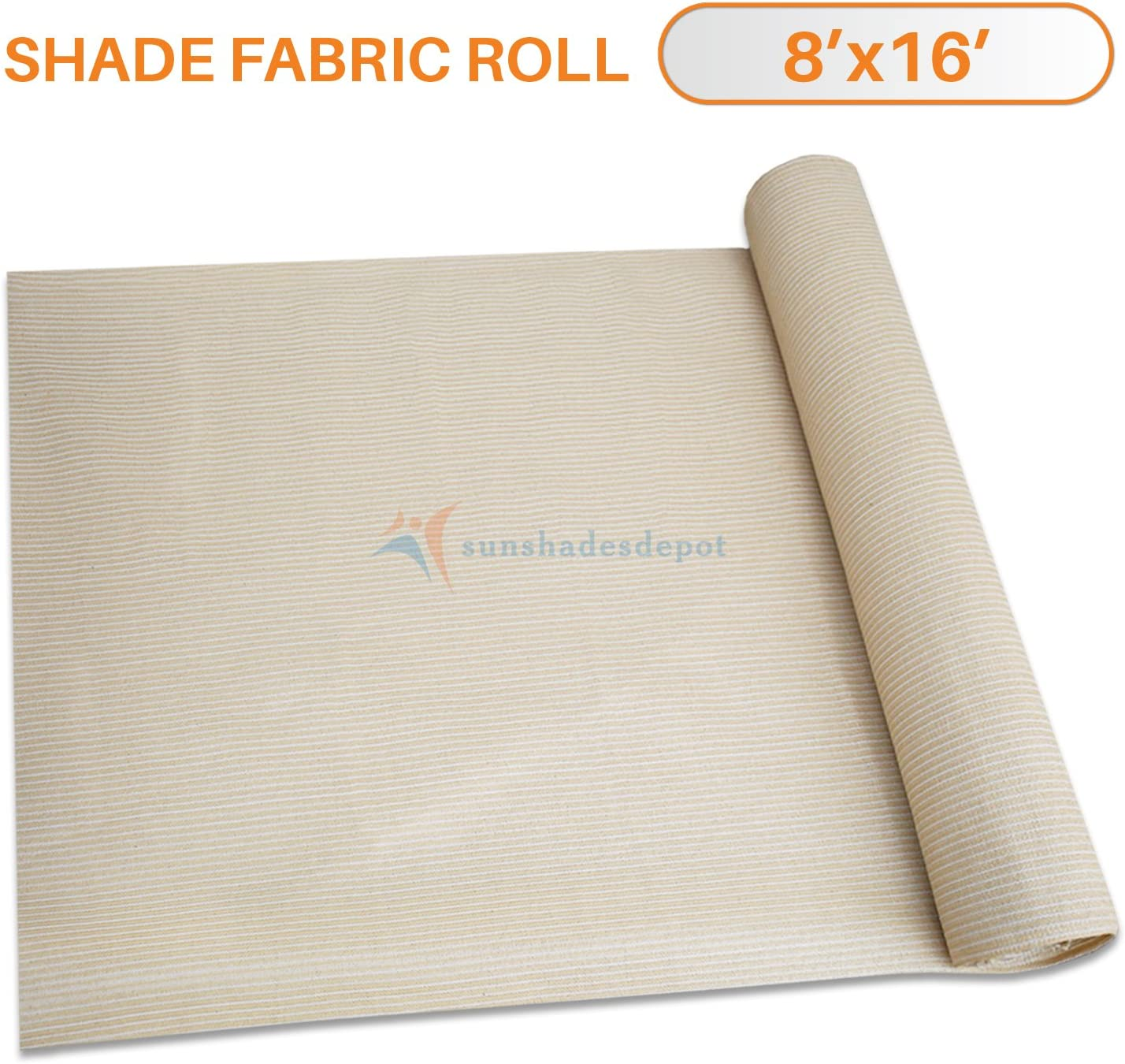 TANG Sunshades Depot 8 x15 Shade Cloth 180 GSM HDPE Beige Fabric Roll Up to 95 Blockage UV Resistant Mesh Net for Outdoor Backyard Garden Plant Barn Greenhouse