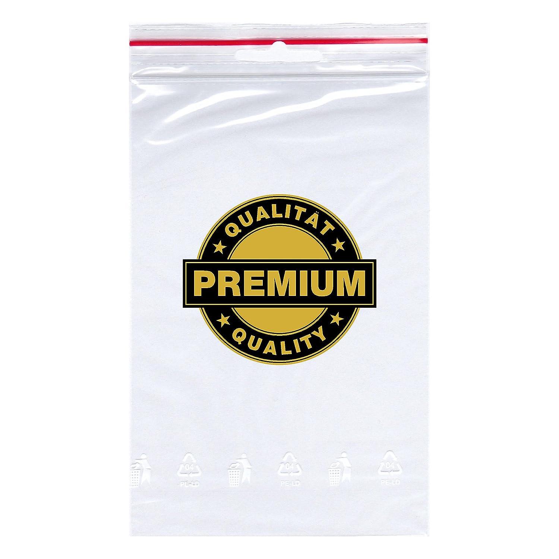 da 70 x 100 mm prodotti in Germania sacchetti con chiusura a scorrimento rapida sacchetti di pellicola Smart PackTM 300/sacchetti con chiusura a pressione