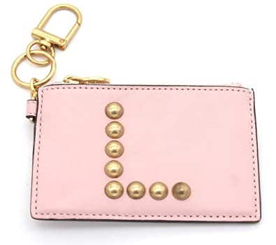 sports shoes fdcc5 32046 Amazon.com: Tory Burch Studded Monogram Card Case and Key Fob (L): Shoes