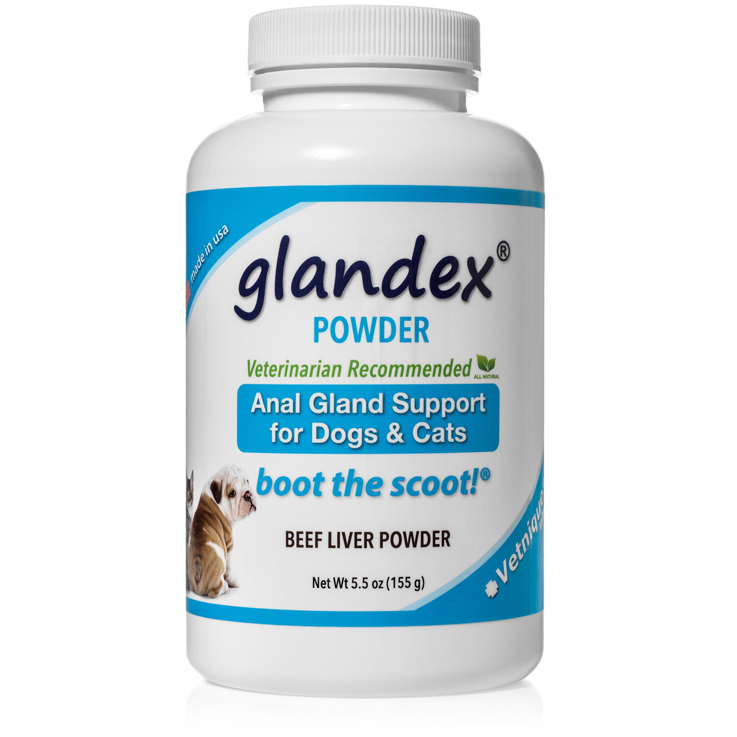 Glandex Powder 5.5 oz, Anal Gland Fiber, Pumpkin & Probiotic Digestive Supplement for Dogs & Cats