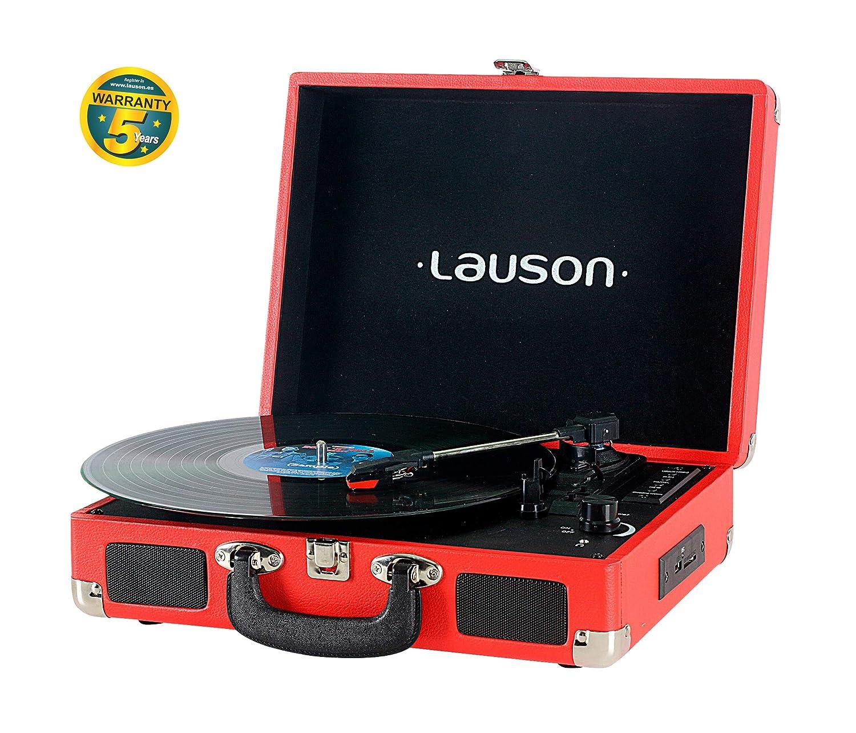 Lauson XXVT3 Tocadiscos Maletín, Bluetooth, USB, Salida RCA ...