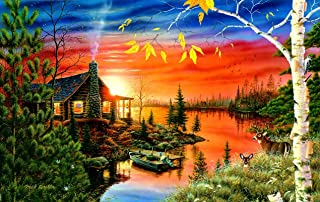product image for Autumn Evening 550 pc Jigsaw Puzzle by SunsOut