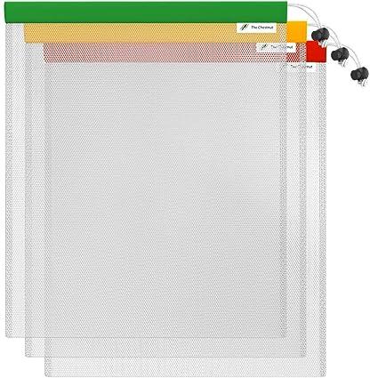 "The Chestnut Drawstring Laundry Bag - 3 Pack 12""x10"" Mesh Bag - Reusable 985be599f07a"