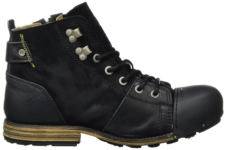 Yellow Cab Herren Industrial M (Black) Biker Boots, hautfarben Schwarz (Black) M 65c80f